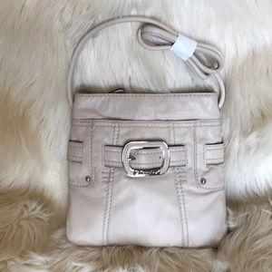 TIGNANELLO Beige Leather CrossBody Wallet Bag NWOT